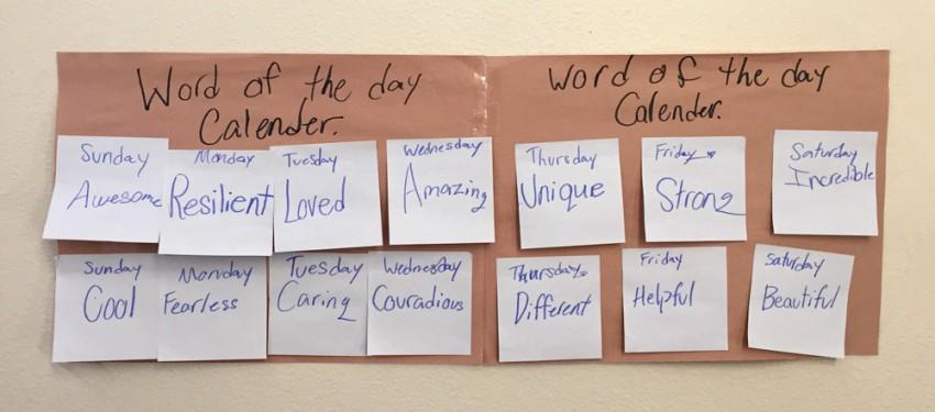Inspiring Word Calendar