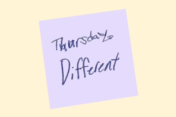 Word of the Day Calendar - Be Different Thursday Featured