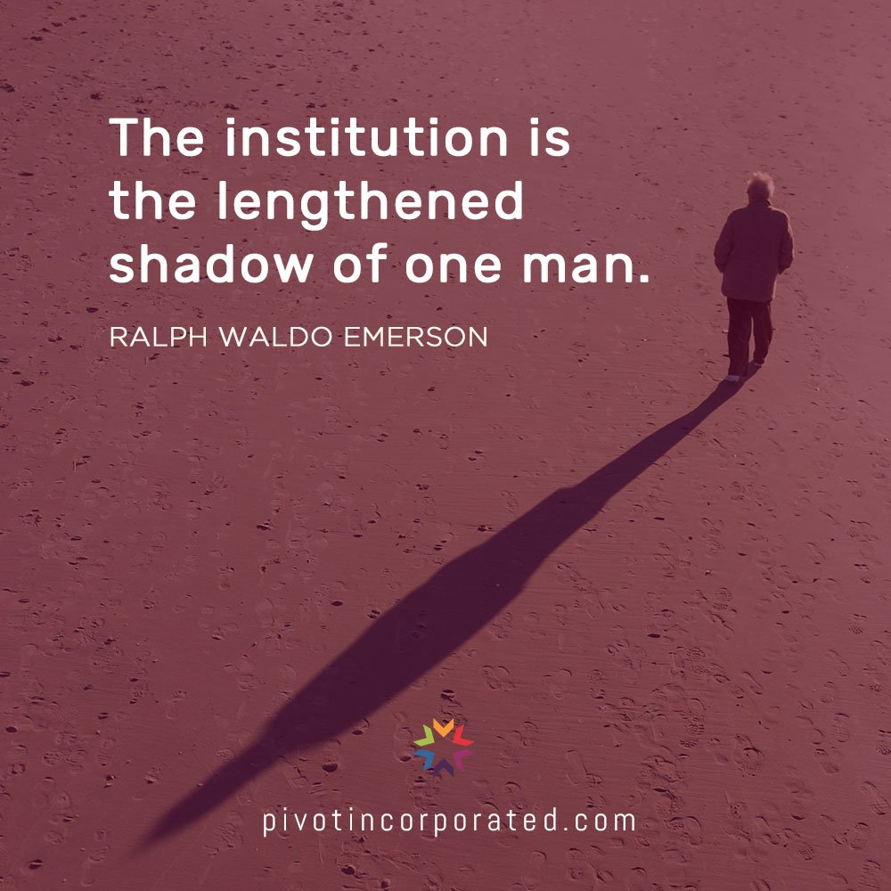 Pivot Seed Quote by Ralph Waldo Emerson