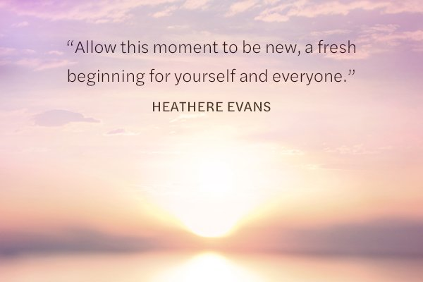 Meditation Moment on New Beginnings