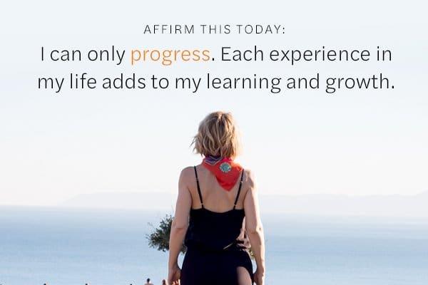 Affirmation on Progression
