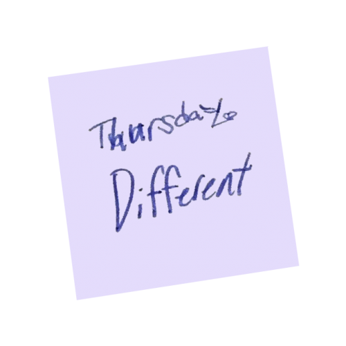 Word of the Day Calendar- Be Different Thursday
