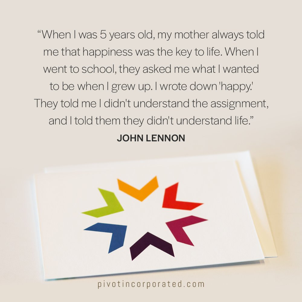 Meditation Moment About Happiness From John Lennon