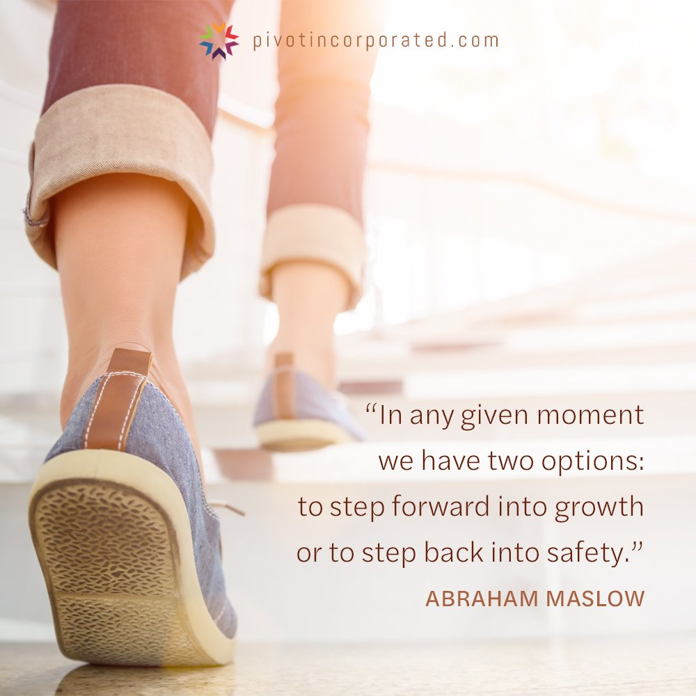 Meditation Moment about Growth from Abraham Maslow