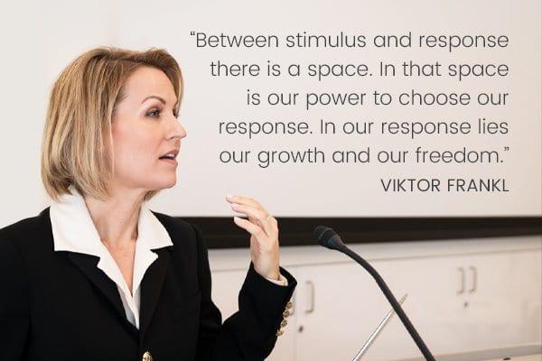 Meditation Moment on the Choosing Your Response - Viktor Frankl