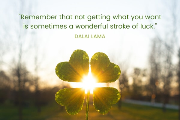 Meditation Moment About Luck from Dalai Lama